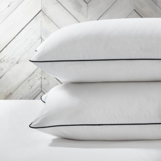 The White Company Abingdon Classic Pillowcase - Single, White/Black, Super King