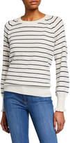 Rebecca Taylor Cozy Wool-Cotton Striped Sweater