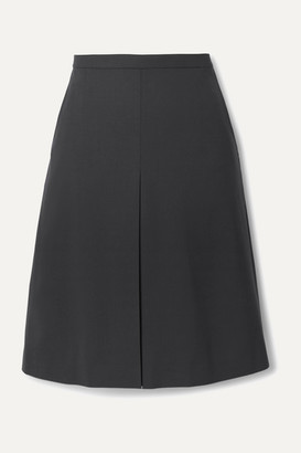 Theory Pleated Wool-blend Skirt - Navy