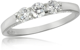 Forzieri 0.49 ctw 18K White Gold Diamond Trilogy Ring