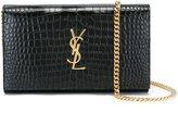 Saint Laurent 'Monogram' chain wallet - women - Calf Leather - One Size