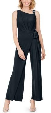 MSK Overlay Tie-Waist Jumpsuit