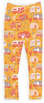Urban Smalls Red & Yellow Happy Camper Leggings - Toddler & Girls