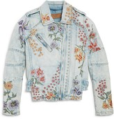 Blank NYC BLANKNYC Girls' Embroidered Denim Jacket - Big Kid