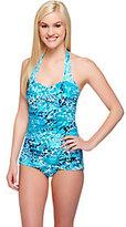 DreamShaper by Miraclesuit Caitlin Blue 1-Piece Halter Swimsuit