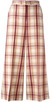 MSGM plaid wide leg cropped trousers