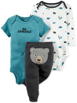 Carter's Baby Boys' Little Wild One 3-Pc. Bodysuits & Pants Set