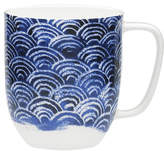 David Jones Shibori Blue Fan Mug