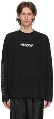 we11done Black Metal Logo Long Sleeve T-Shirt