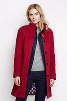 Lands' End Women's Tall Luxe Wool Car Coat-Crimson