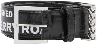 Burberry Grace Graphic Print Coated Canvas Belt