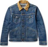 Tom Ford - Corduroy-trimmed Selvedge Denim Jacket