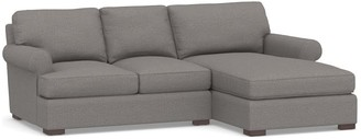 Pottery Barn Townsend Roll Arm Upholstered Sofa with Chaise Sectional