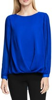 Vince Camuto Women's Pleat Sleeve Drape Front Blouse