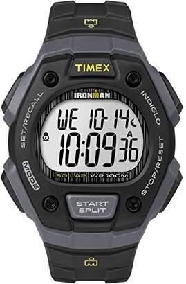 Timex Men's TW5M09500 Ironman Classic 30 Black/Gray Resin Strap Watch