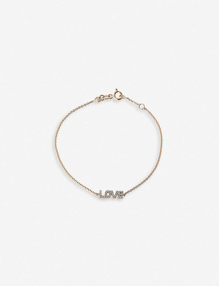 The Alkemistry Kismet by Milka 14ct rose-gold and diamond Love bracelet