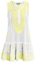 Neon embroidered beach dress