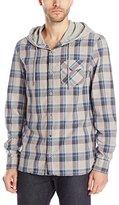 Buffalo David Bitton Men's Sagore Long Sleeve Hooded Plaid Shirt
