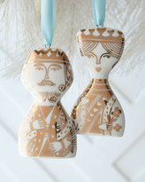 Jonathan Adler King & Queen Ornament Set