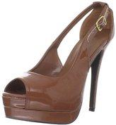 C Label Women's Jocelyn-43B Peep-Toe Pump