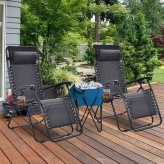Zero Gravity Butterworth Reclining/Folding Chair Freeport Park Color: Black