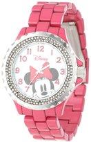 EWatchFactory Disney Women's W000503 Minnie Mouse Enamel Sparkle Bracelet Watch