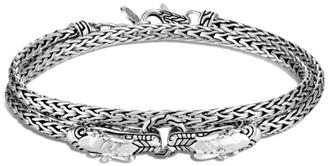 John Hardy Legends Naga Sterling Silver Double Wrap Dragon Head Bracelet