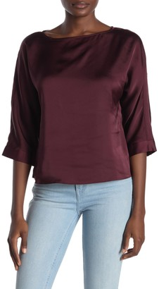 Rachel Roy Charmeuse 3/4 Sleeve Blouse