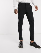 Asos Design DESIGN extreme super skinny smart trousers in black