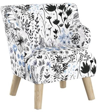 Skyline Furniture Kids Modern Chair in Winter Botanical Blue