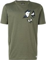 Fendi graphic butterfly appliqué T-shirt - men - Cotton/Polyester/plastic - 46