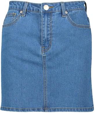 boohoo Denim Stretch Mini Skirt