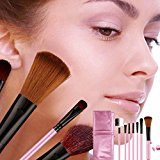 Baomabao 7PC Makeup Blush Brush Professional Cosmetic Set With Pink Bag
