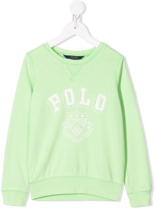 Ralph Lauren Kids Crest-Print Relaxed-Fit Sweatshirt