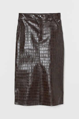 H&M Faux Leather Skirt - Pink