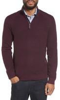 Ted Baker Men's Big & Tall Slim Fit Quarter Zip Sweater