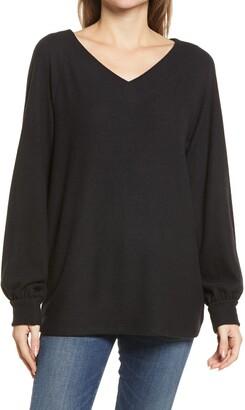 Caslon Long Sleeve Knit Top