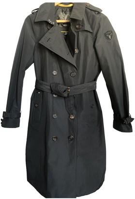 Nobis Navy Cotton Trench Coat for Women