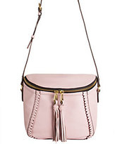 Oryany As Is Pebbled Leather Crossbody Bag with Tassels - Kimberly