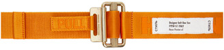 Heron Preston Orange and Gold Tape Belt