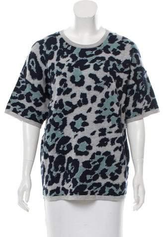 Derek Lam Patterned Short Sleeve Sweater w/ Tags