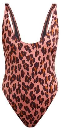 Stella McCartney Ballet Leopard Print Swimsuit - Womens - Pink Multi