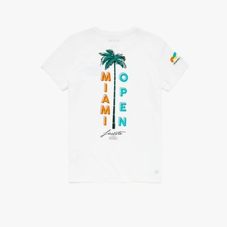 Lacoste Women's SPORT Miami Open Palm Tree Print T-shirt