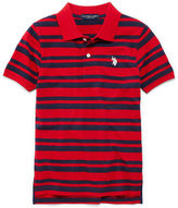 U.S. Polo Assn. USPA Short-Sleeve Striped Piqu Polo - Boys 8-18