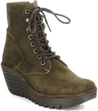 Fly London Women's Casual boots 024 - Sludge Ygot Suede Wedge Boot - Women