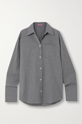 GAUGE81 Lowly Oversized Stretch Wool-blend Shirt - Gray