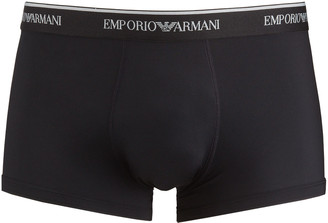 Emporio Armani Men's Essential Microfiber Boxer Trunks
