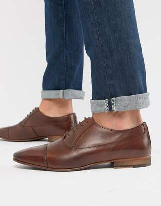 Walk London City oxford shoes in brown leather