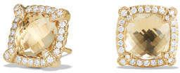 David Yurman Châtelaine 8mm Champagne Citrine & Diamond Earrings