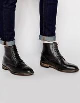 Frank Wright Brogue Boots - Black